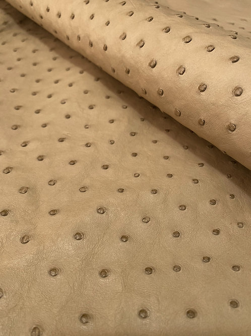Ostrich Leather Hide, Oryx Color