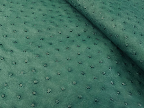 Ostrich Leather Hide, forest Green Color