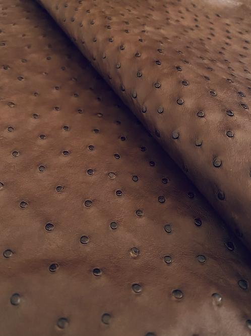 Ostrich Leather Hide, Almond (CF) Color