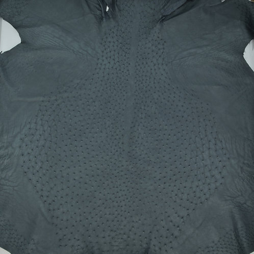 Ostrich Leather Hide, slate Blue Color