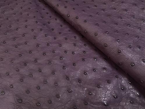 Ostrich Leather Hide, African Violet Color