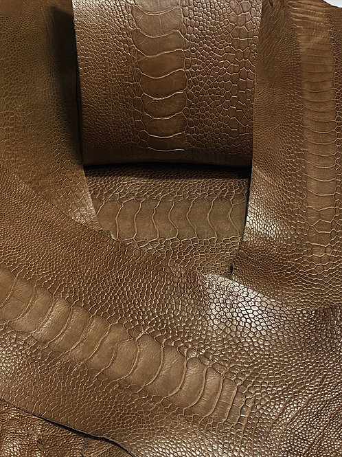 Ostrich Legs Skin Leather, Kango Tabac Color