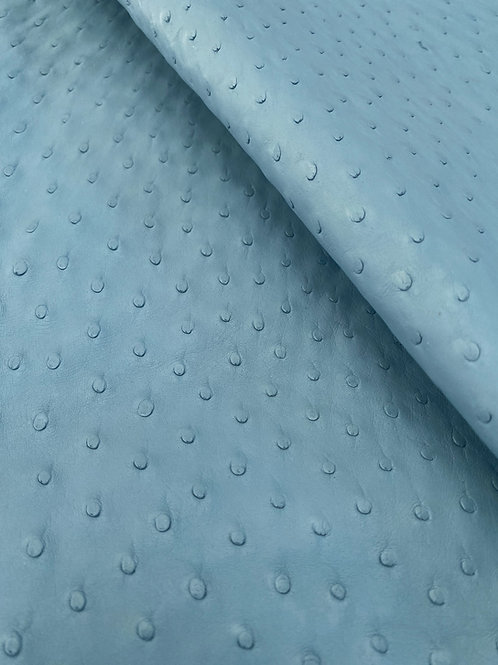 Ostrich Leather Hide, Sky Blue Color