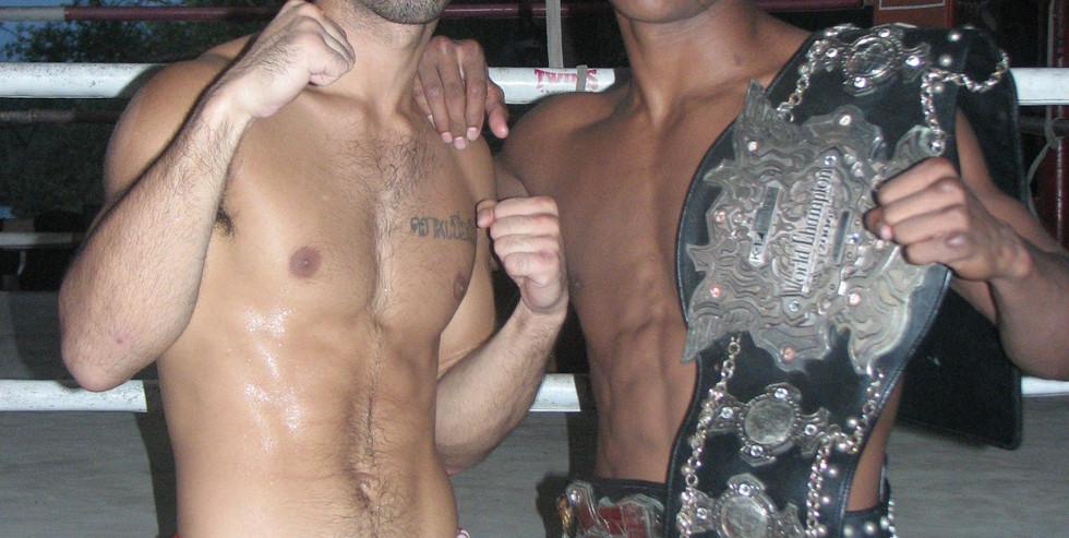 Aaron Castellvi and Buakaw