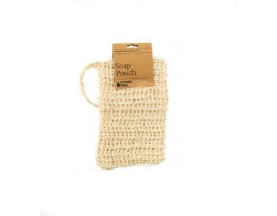 Image of sisal soap pouch with cardboard tag