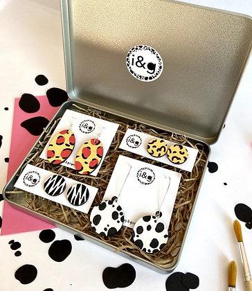 Animal Print Earring Gift Set