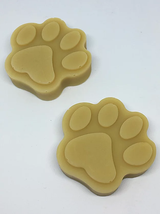 Vegan Flea Repellent Dog Shampoo Bar in Paw Print Design