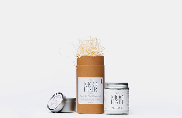 Gift tube, hair mask and candle