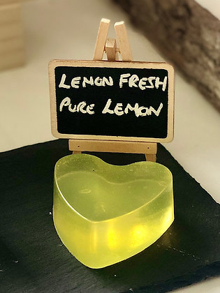 Lemon Fresh Big Heart Soap packaged in a Rose Gold Gift Tin by Little Suds