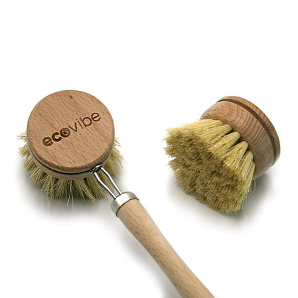 Sustainable Wooden Plastic-Free Dish Brush by eco vibe