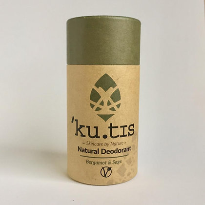 Kutis Natural, Vegan and Plastic Free Deodorant in Bergamot and Sage