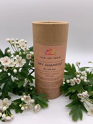 dry shampoo for red hair in cardboard shaker tube