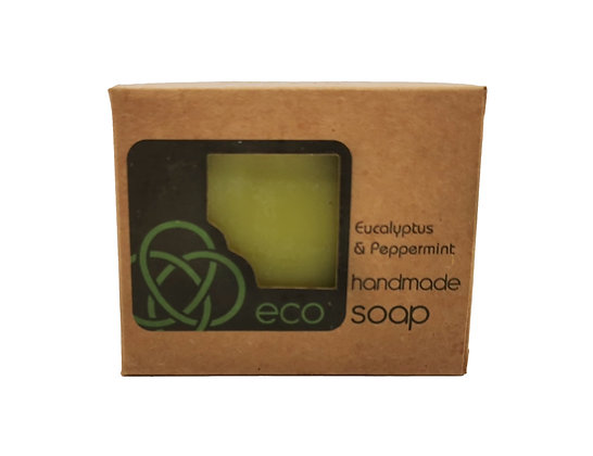 Eucalyptus and Peppermint Soap Bar Handmade in the Scottish Highlands by eco soaps