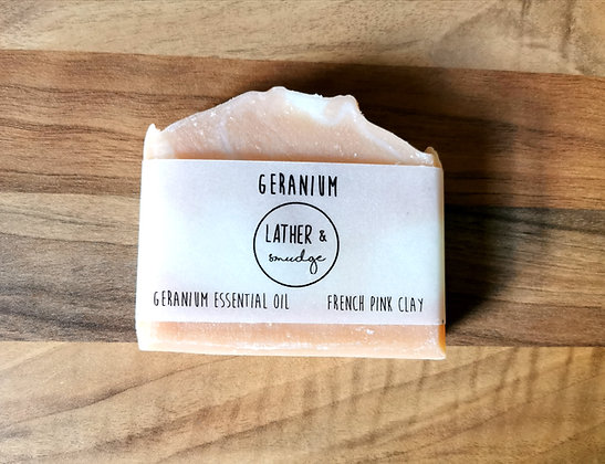 French Pink Clay and Geranium Soap Bar