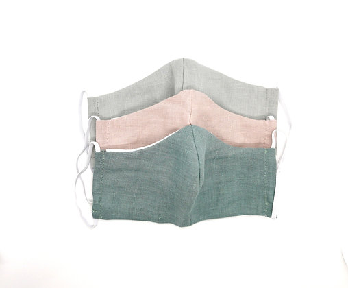 Linen Re-Usable Facemask with Filter Pocket