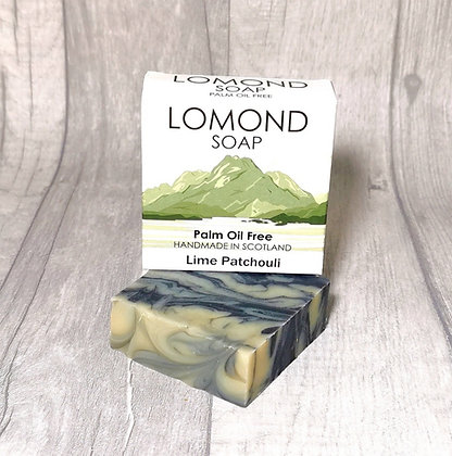 Handmade & Palm Oil Free Lime Patchouli Soap Bar