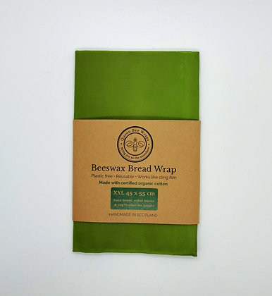 Queen Bee Organic Cotton Beeswax Large Bread Food Wrap
