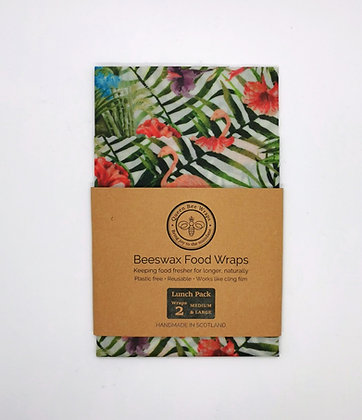 Queen Bee Lunch Set of 2 Beeswax Wraps