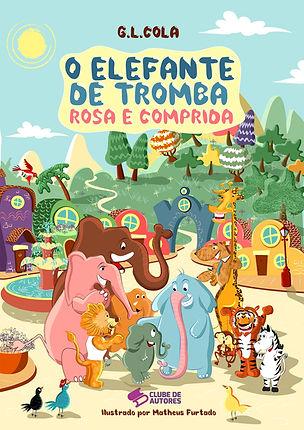 Capa O Elefante da Tromba Rosa e Comprid