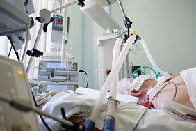 Coronavirus pandemic. Patient with coron