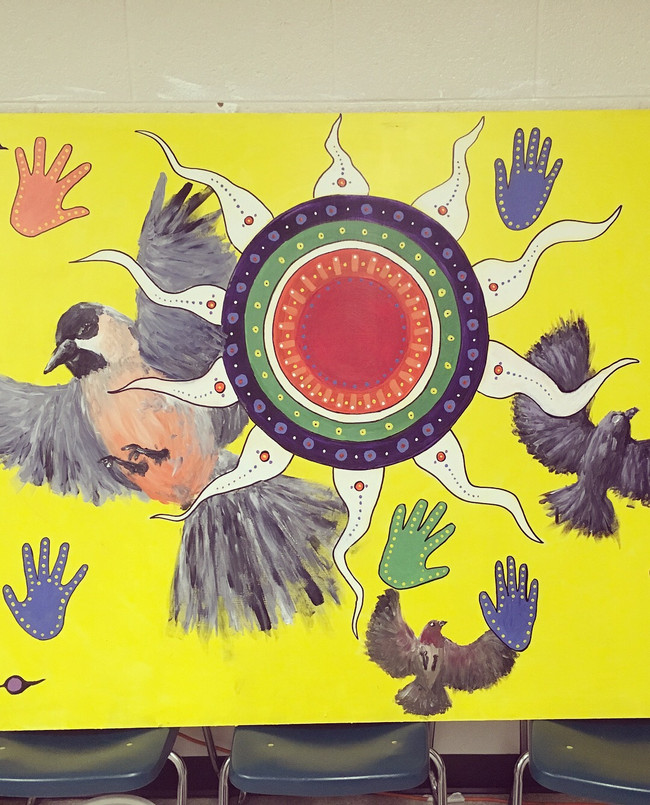 We are All One Collaboration with Youth -Artist Residency West Ferris Intermediate and Highschool