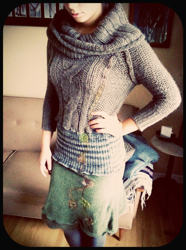 One-of-a-kind Upcycled Sweater Dress