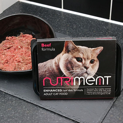 Nutriment Cat Beef Tray 500g