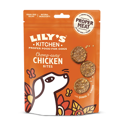 LILY'S KITCHEN TREATS CHOMP AWAY CHICKEN BITES 70g