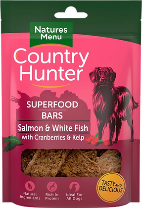 NATURES MENU COUNTRY HUNTER SUPERFOOD BARS 100G SALMON