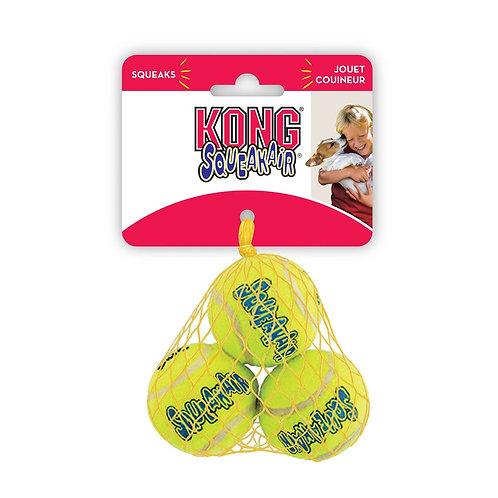 Kong air squeaker tennis ball 3pk