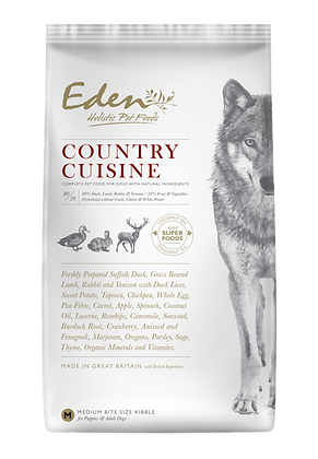 EDEN 80/20 COUNTRY CUISINE GAME WITH LAMB DOG FOOD MEDIUM KIBBLE 2kg