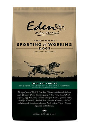 EDEN 80/20 ORIGINAL CUISINE WORKING AND SPORTING DOG FOOD SMALL KIBBLE 15kg