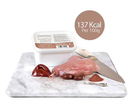 Minced farmed rabbit & ground bone (Adult Cat) 450g