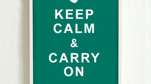 COVID-19: Keep Calm and Carry On