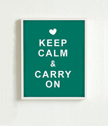 Mantenga cartel calma