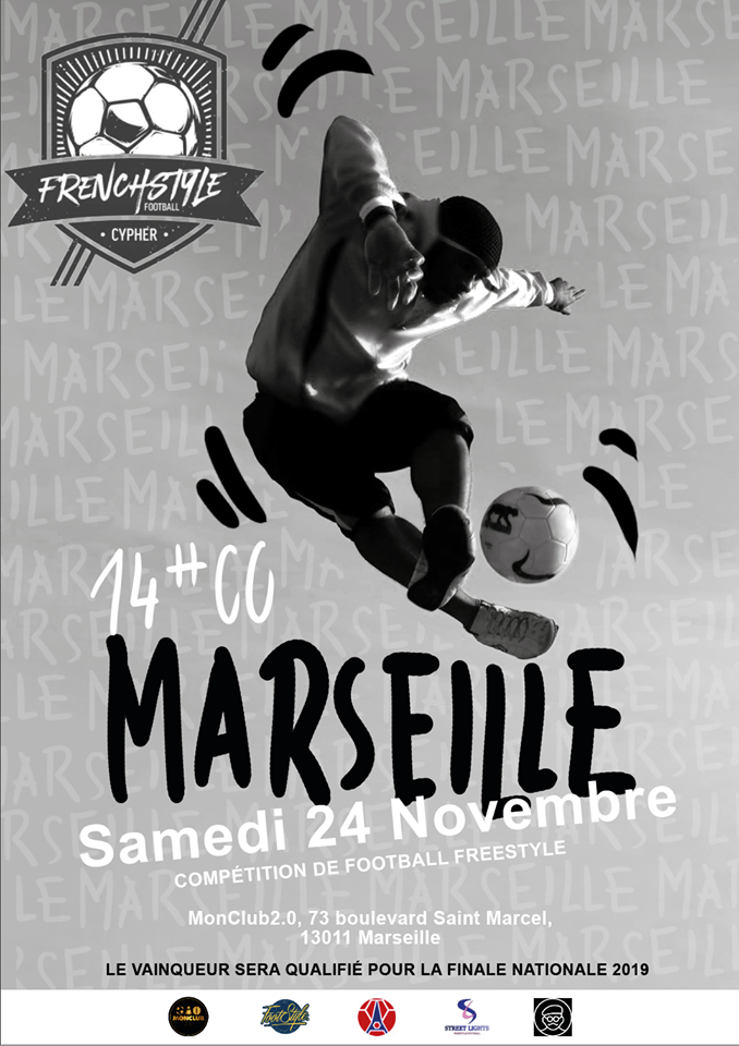 Affiche compétition Football Freestyle Marseille