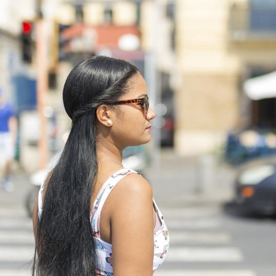 Hispanic Girl with Long Hair
