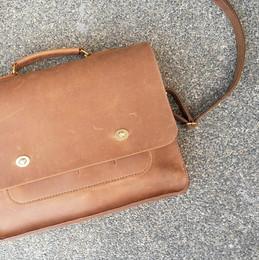 briefcase leather messenger bag handmade