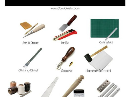 Beginners in Leather Crafting - List of Essential Tools for Quick Start