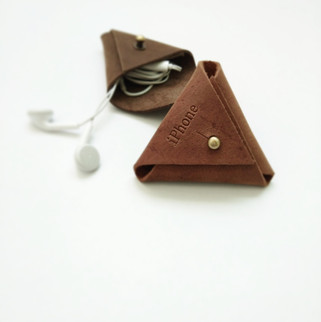 earbud cable organizer leather gifts doo