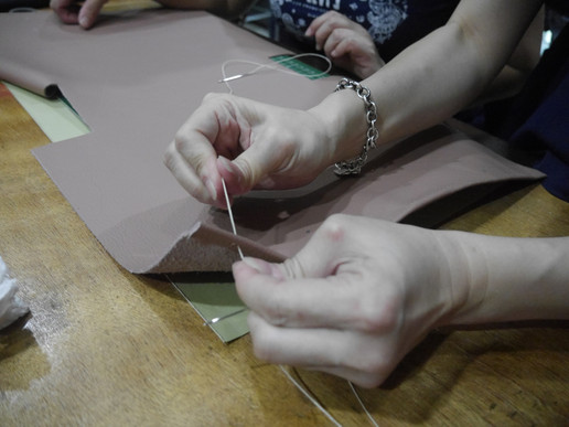 Coralc Atelier Leather Crafting Workshop Malaysia Hand Sewing