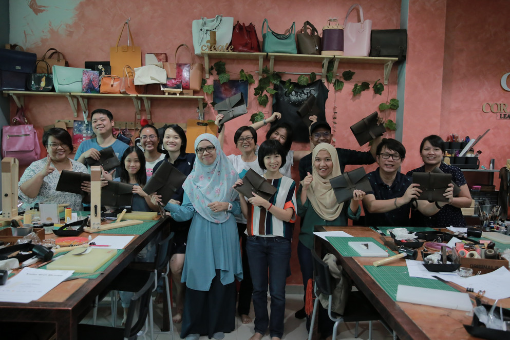 Coralc Atelier Leather Crafting Workshop Malaysia Group Photo