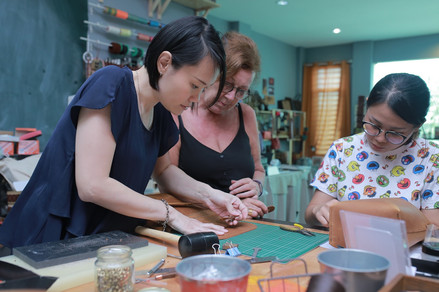 Coralc Atelier Leather Crafting Workshop Malaysia Weekend Classes