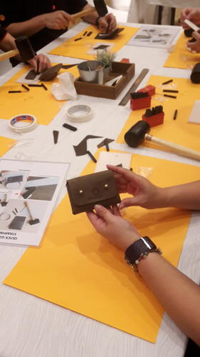 Shell Malaysia leather craftin teambuild
