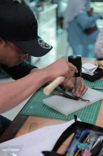 Coralc Atelier Leather Crafting Workshop Malaysia Student