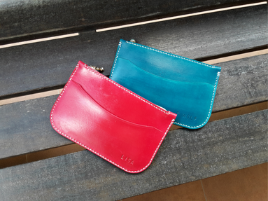 hand dyeing leather pouch leather making