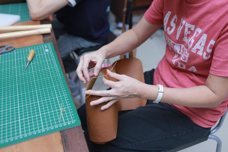 Coralc Atelier Leather Crafting Workshop Malaysia Bag Making Workshop