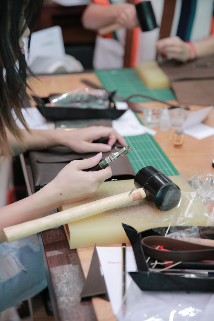 Coralc Atelier Leather Crafting Workshop Malaysia Handmade Leather