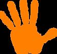 child's hand print logo