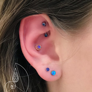 Conch, rook and lobes